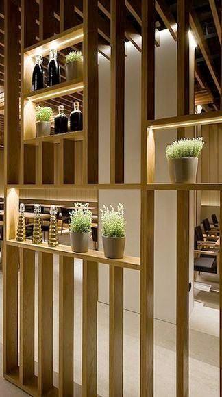 En Lugar De Macetas Barrenos De Diferentes Tamanos Living Room Partition Design Room Divider Walls Room Partition Designs