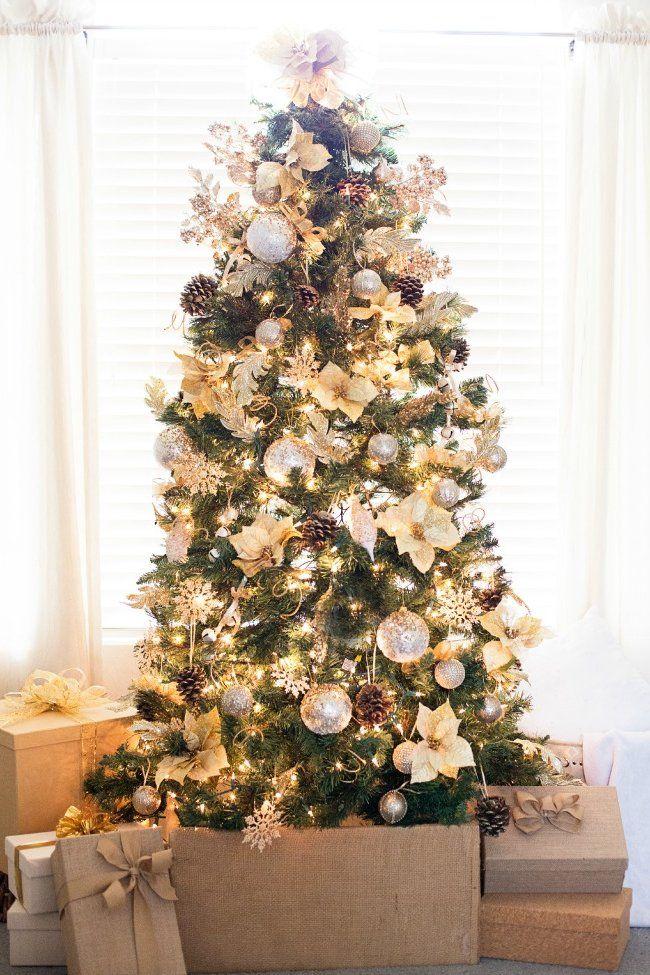 Ideas para decorar el rbol de navidad pinos de navidad for Arboles navidenos decorados