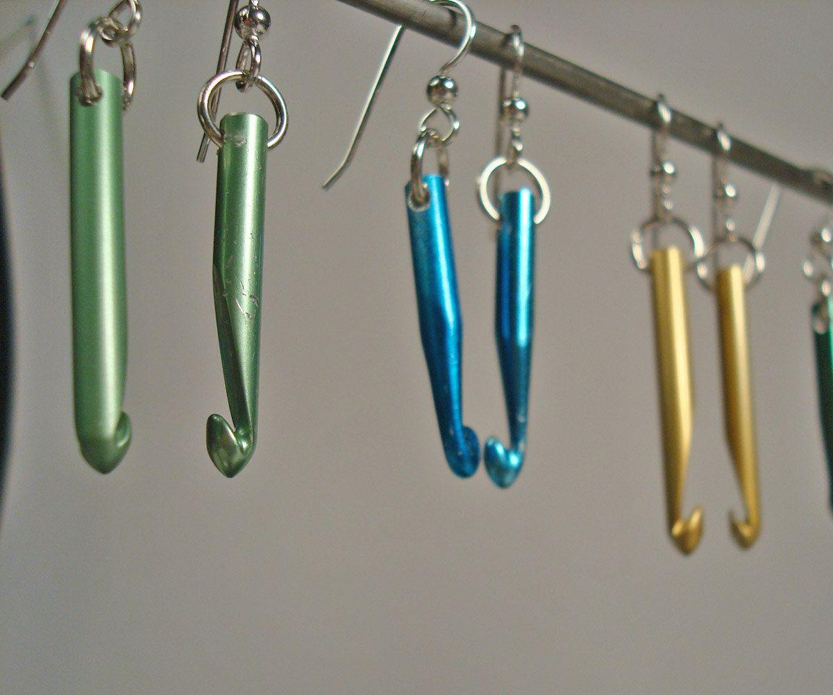 Crochet Hook Earrings: Crochet Hook Earrings - Etsy 4U // Hf