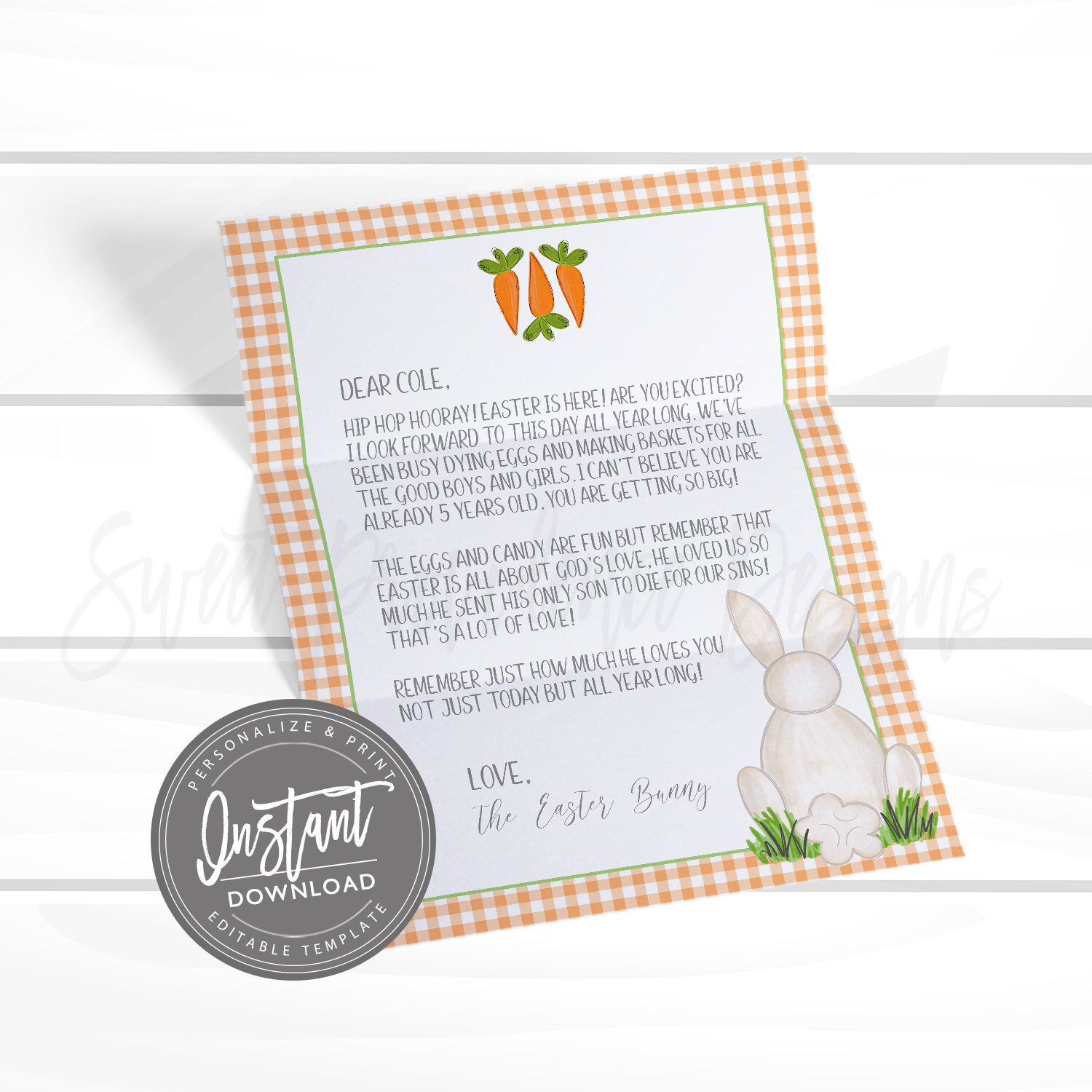 44+ Easter bunny letter template free ideas in 2021