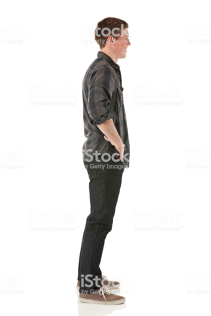 Profile Of A Man Standing Man Standing Stock Images Free Male Profile