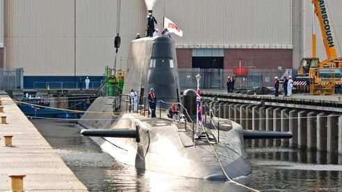 @BAEsystemsplc launches latest #Astute class submarine, designed and built for @Royal Navy pic.twitter.com/K8GBs26uLw