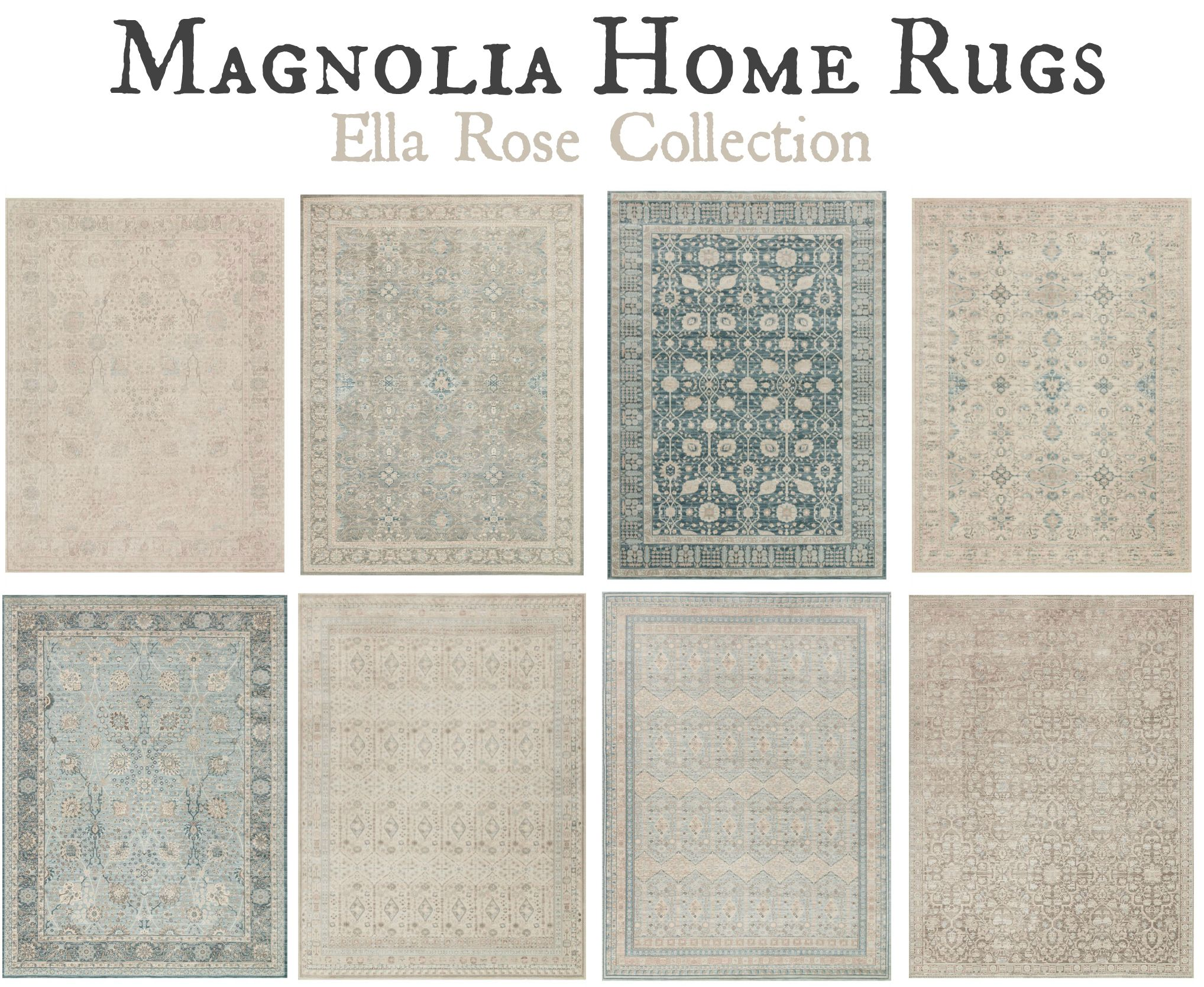 Joanna Gaines New Rug Line Is Here I Love Her Magnolia Home Rugs And Cant Wait To See Use Them In Fixer Upper Designs