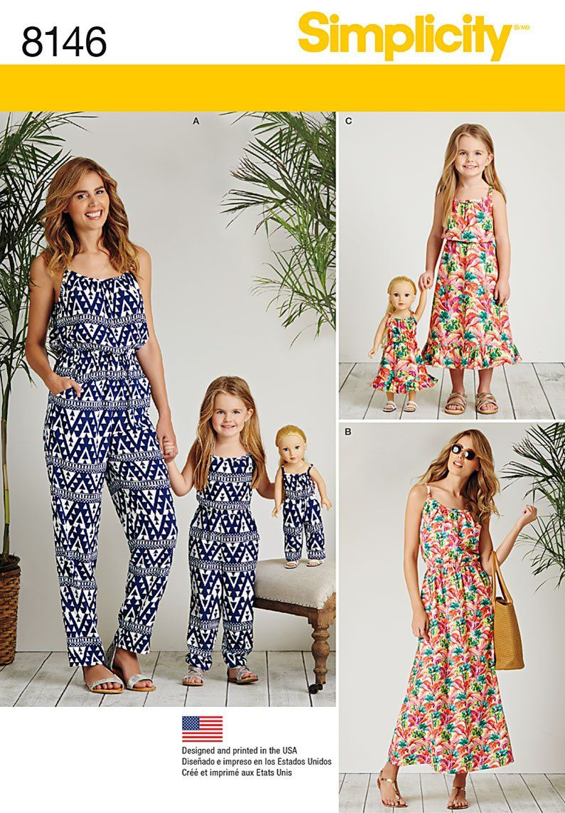 Simplicity Simplicity Pattern 8146 Matching outfits for Misses, Child and 18