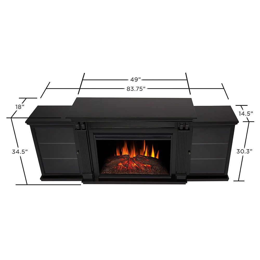 Real Flame Tracey Grand Infrared Black Electric Fireplace ...