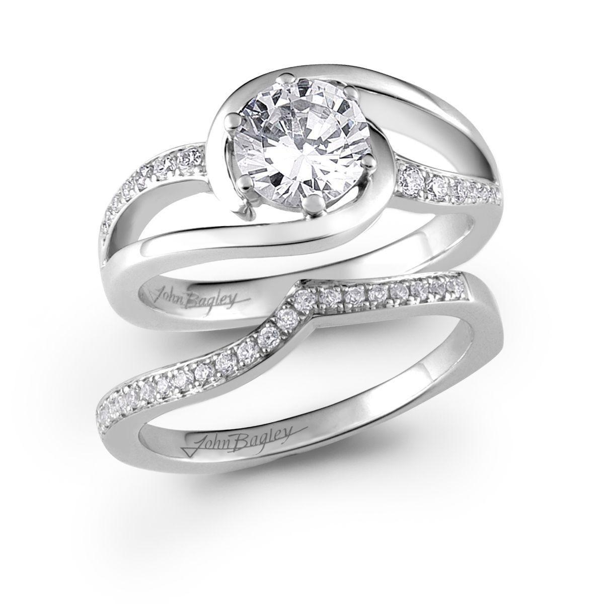 Swirl Diamond Engagement Rings  Google Search