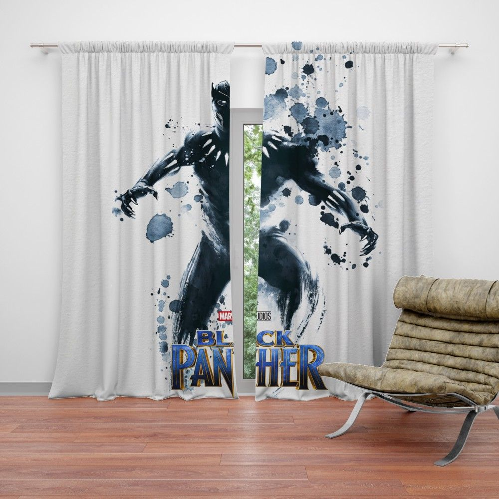 Black Panther The Noble Avenger Curtain Avengers Curtains Black