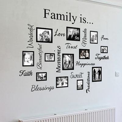 Family Word Quote Gallery Wall Wall Art Decal Sticker Wall Stickers Family Family Wall Decals Family Wall Art