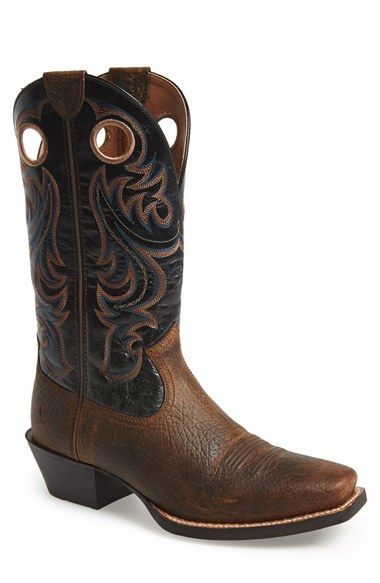 Ariat Sport Leather Cowboy Boot Men Ariat Mens Boots Dresses With Cowboy Boots
