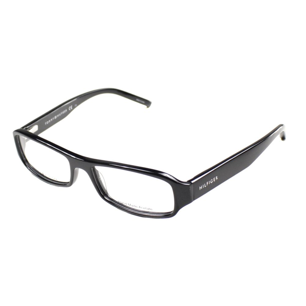 These unisex designer eyeglasses from Tommy Hilfiger feature a ...