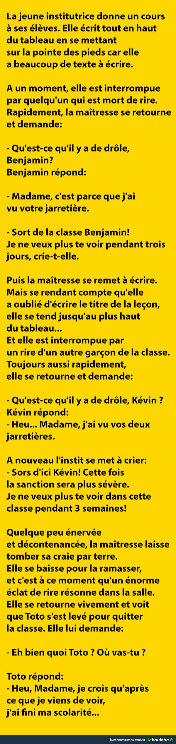 histoire drole kevin