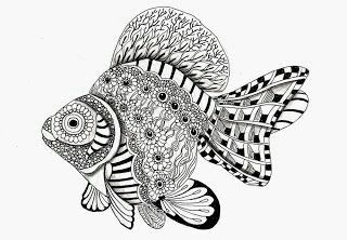 Zengtagle Fisch Fisch Kunst Zentangle Zeichnungen Malvorlagen Tiere