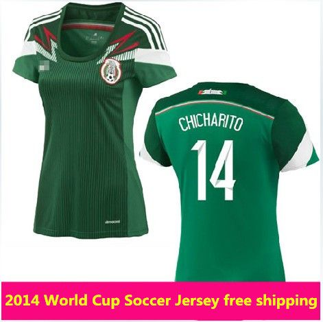 The Mexico natinal team home women soccer jersey 2014 world cup design team  shirt soccer jerseys for women free shipping  16.11 - 19.11 40bc4c9479