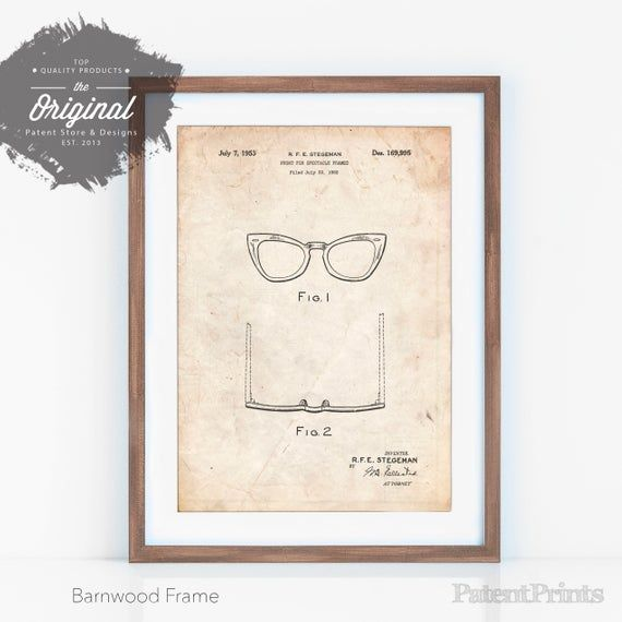 Items similar to Horn Rimmed Glasses Patent Poster, Optometry Gift, Doctor Office Decor, Fashion Illustration, Boutique Decor, PP0541 on Etsy