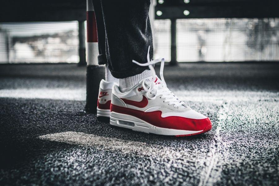 Nike Air Max 1 Anniversary White University Red | Classic
