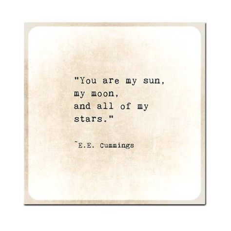 You Are the Sun Moon Stars Quote Print, EE Cummings Poem Quote Art Print, Poetry Art Nursery Decor, Book Page Art, Literary Print, Unframed