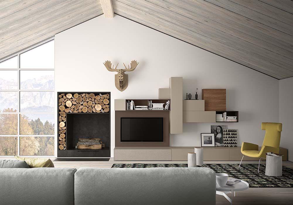 arredamento soggiorno, zona living pianca, spazio pianca ... - Mobili Moderni Per Zona Giorno
