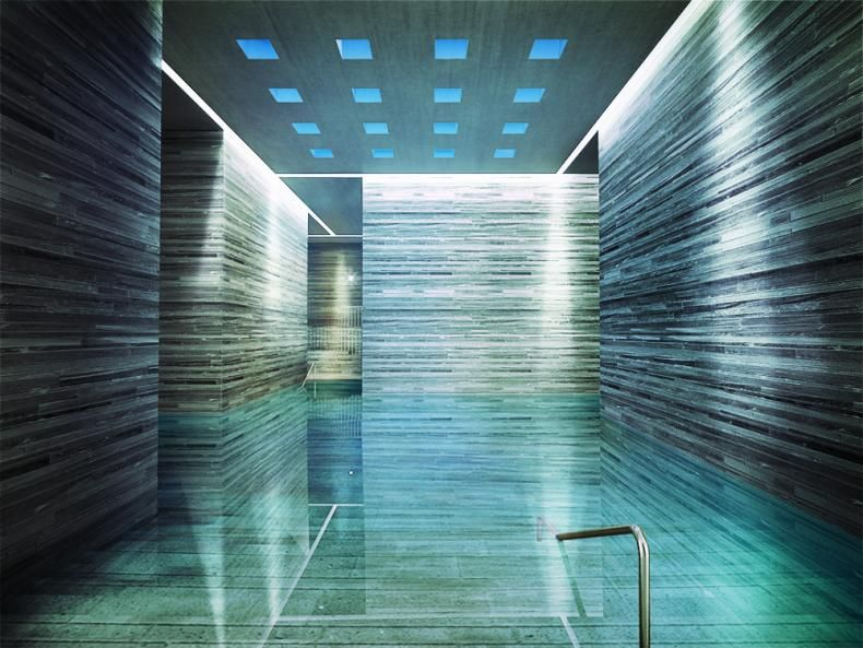 thermes vals piscine interieure architecture is not my. Black Bedroom Furniture Sets. Home Design Ideas