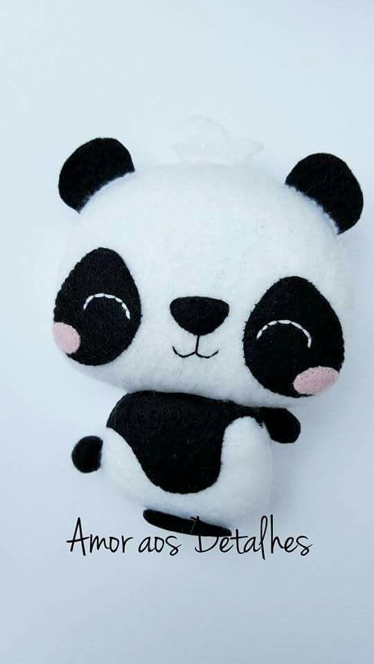 Panda feltro | Felt | Pinterest | Rund ums Nähen, Runde und Nähen