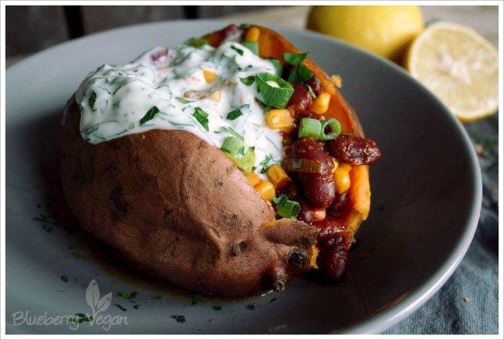 Gefüllte Süßkartoffel auf mexikanische Art #mexicancooking