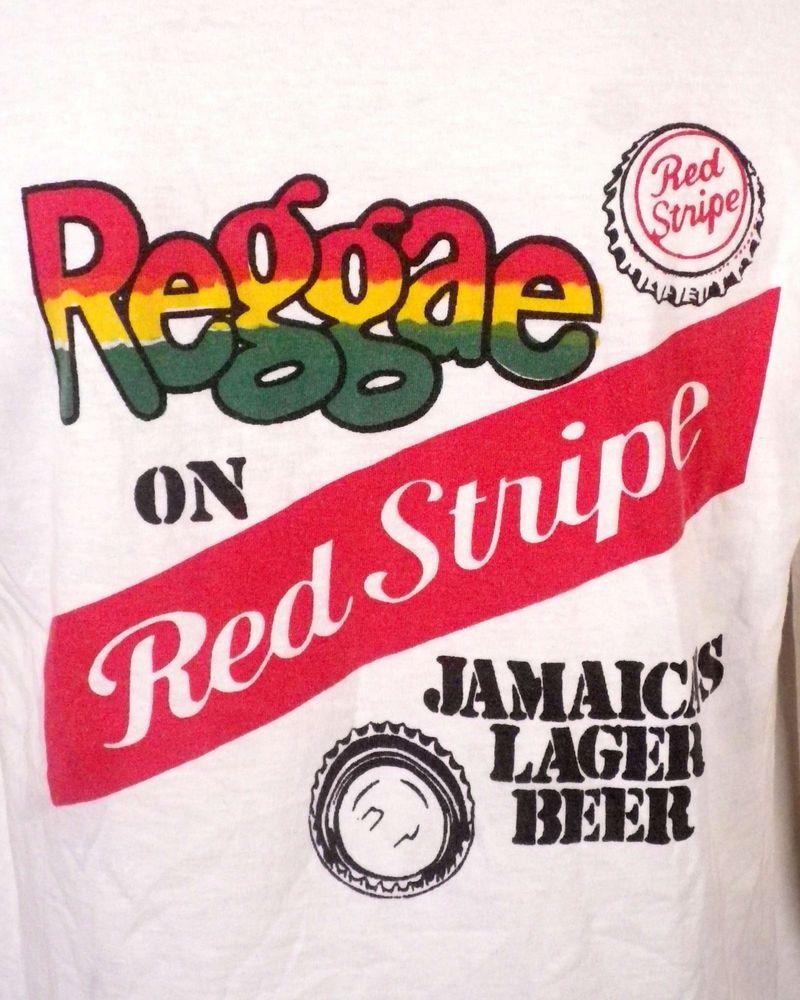 Vtg 80s 90s Retro Reggae On Red Stripe Lager Beer T Shirt Advertising Sz L Beer Tshirts Lager Beer Lager