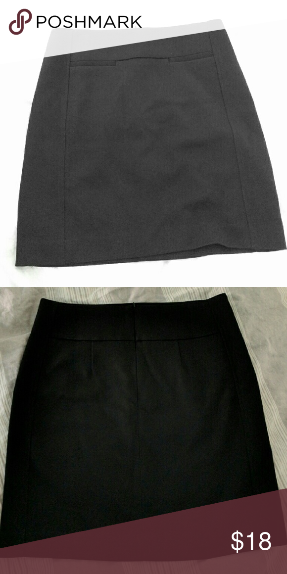 "LOFT black skirt w lining Excellent condition.  Size 6. About 19"". LOFT Skirts Mini"