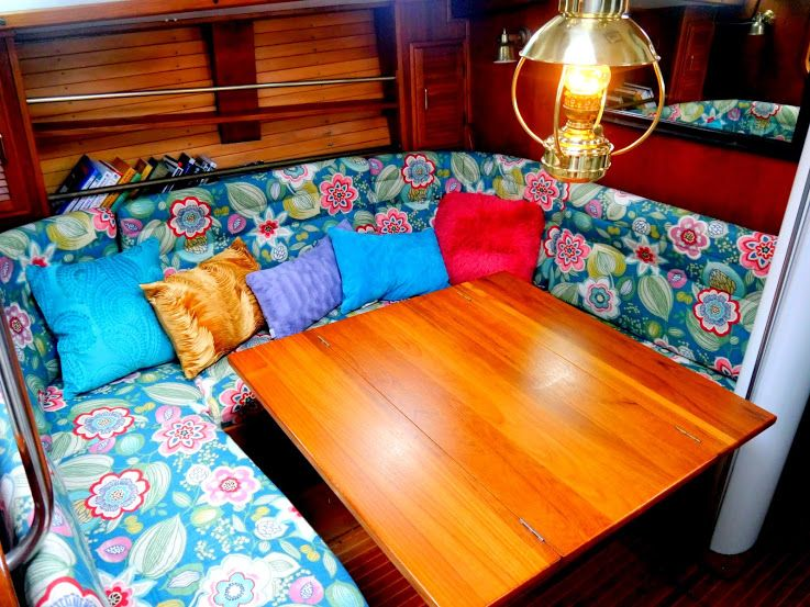 cheap and easy boat tricks covering salon cushions little cunning