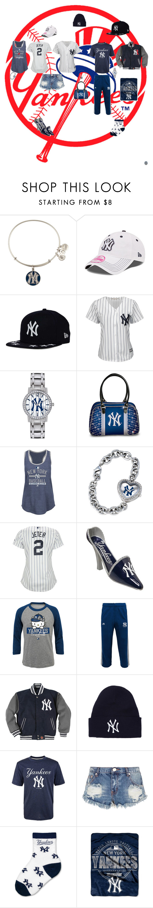 """Yankees"" by jenabbyreid on Polyvore featuring Alex and Ani, Majestic, Game Time, The Bradford Exchange, Hello Kitty, One Teaspoon and The Northwest Company"