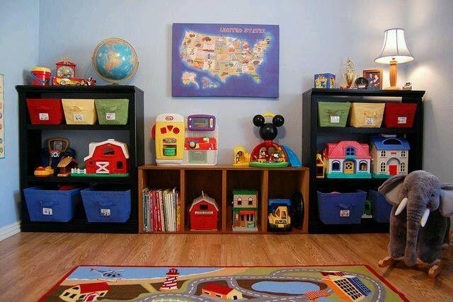 Ideas para organizar los juguetes de tus hijos chiches - Organizar habitacion ninos ...