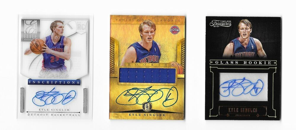 f60b8054f919 2012 RC Auto Autograph 3 card lot Kyle Singler Panini Rookie cards Duke  Cameron