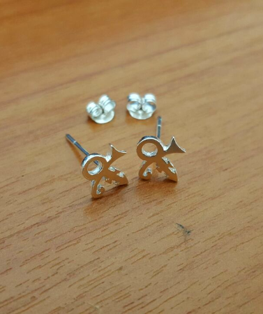 Prince Prince Symbol Earring Prince Rogers Nelson Sterling