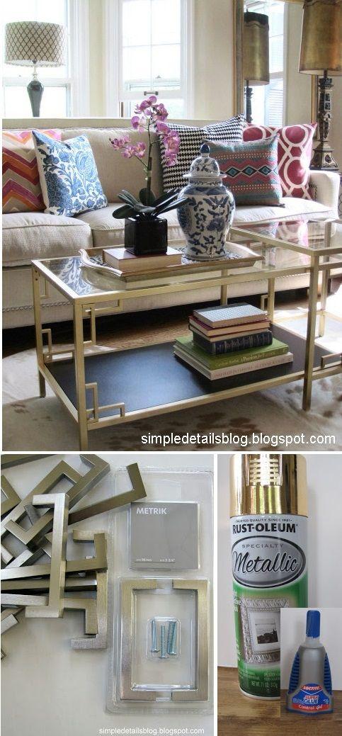 ikea hack...table makeover   Huong dan hack   Pinterest   Sillas de ...