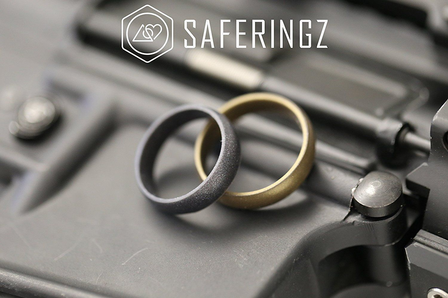 Men or Women SafeRingz Metallic Silicone Wedding Ring Made in The USA 6mm Size 4-13
