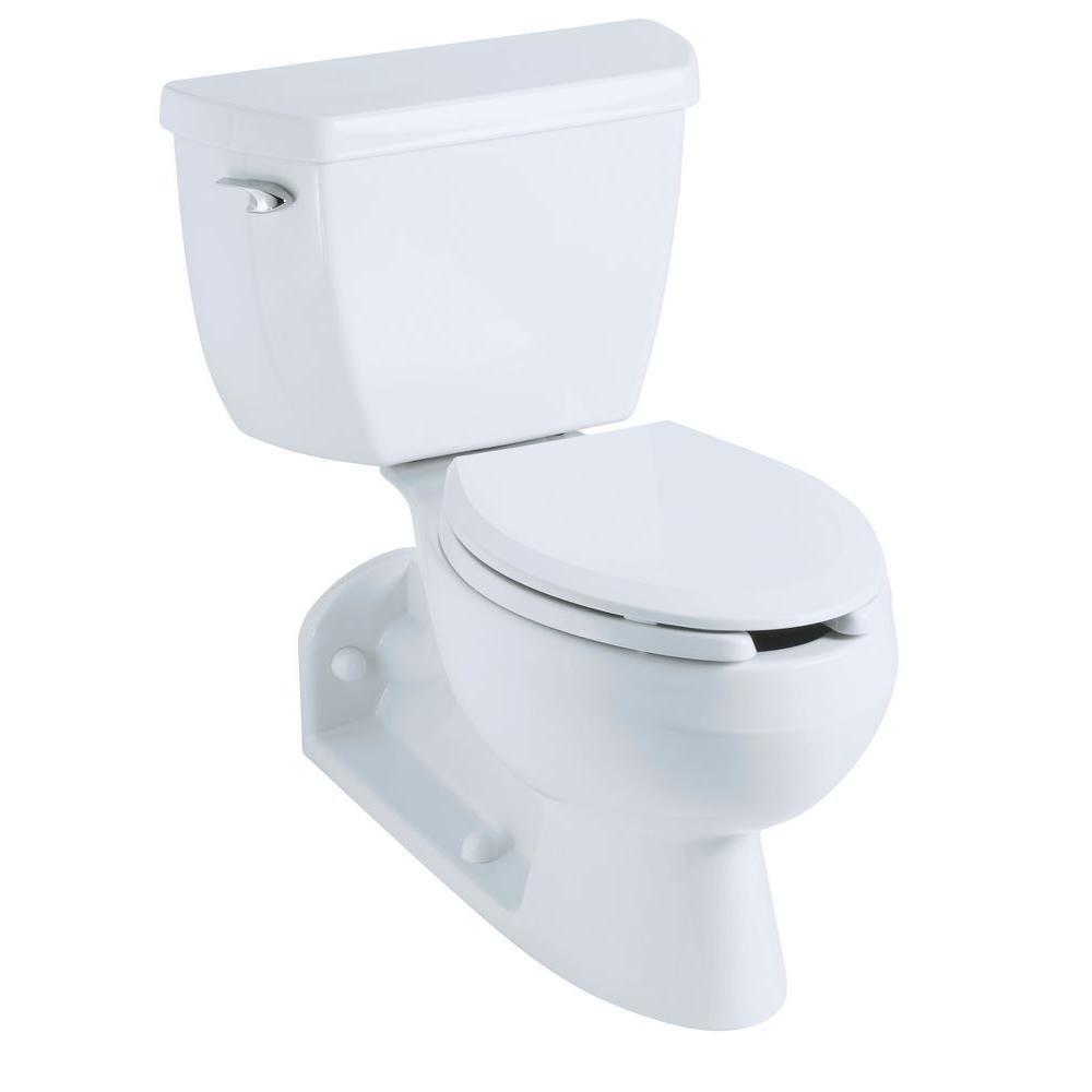Kohler Barrington 4 In Rough In 2 Piece 1 6 Gpf Pressure Lite Single Flush Elongated Toilet With Toilet Tank Locks In White K 3554 T 0 Traditional Toilets Dual Flush Toilet Toilet