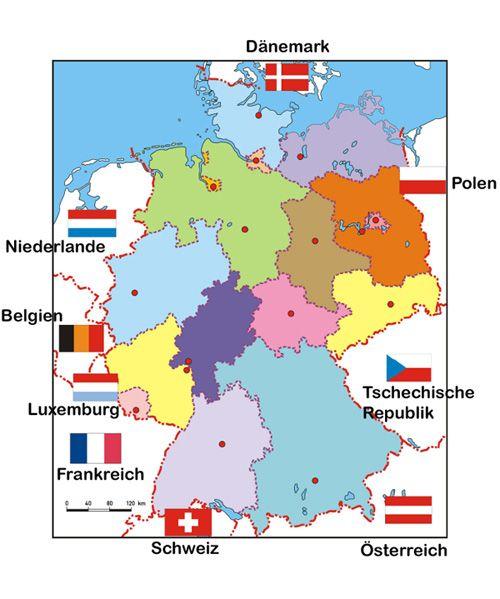 deutsche nachbarländer karte Nachbarländer Deutschlands Medienwerksatt | Nachbarländer