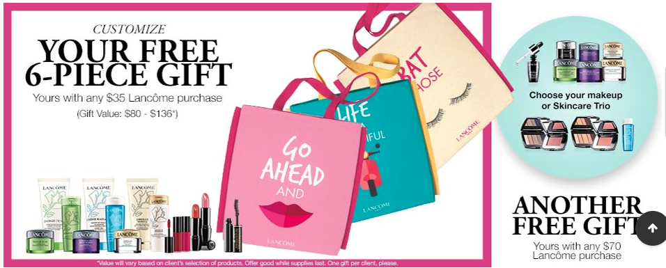 GWP Clinique, Free cosmetics, Gifts