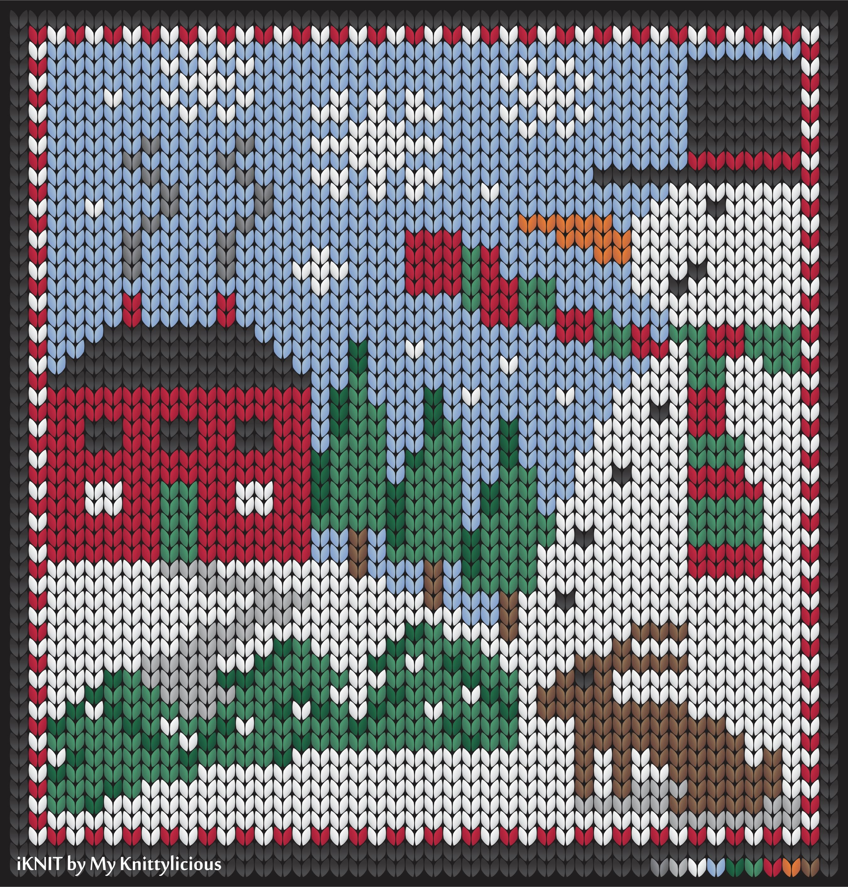 Winter knitting pattern with Snowman | Christmas knitting ...