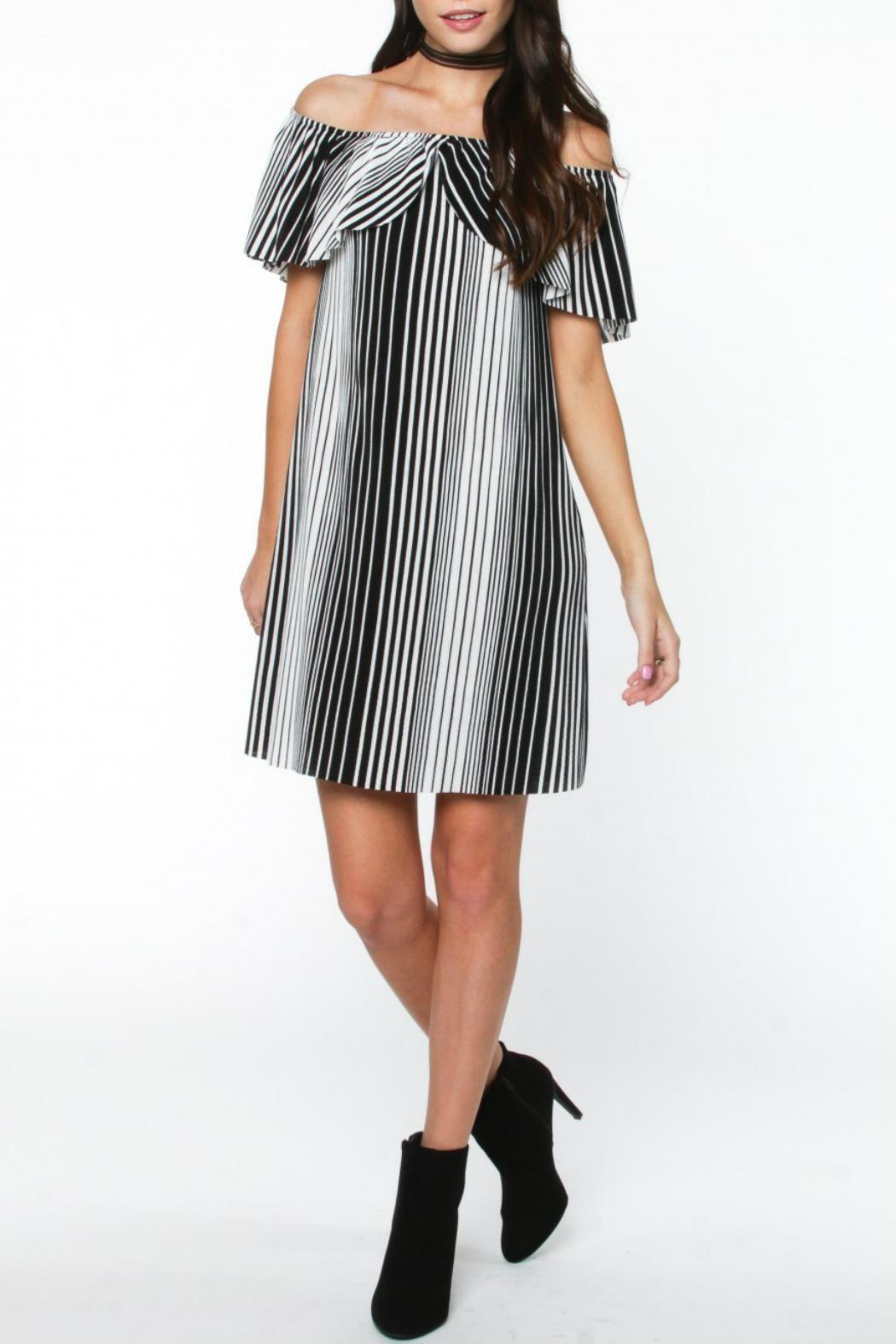 80aa456723d3 Everly Stripe Off-Shoulder Dress