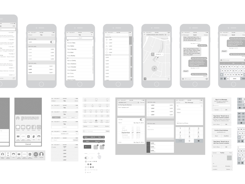 Free Iphone 6 Vector Wireframing Toolkit Ios 8 Free Iphone 6 Wireframe Template Free Iphone