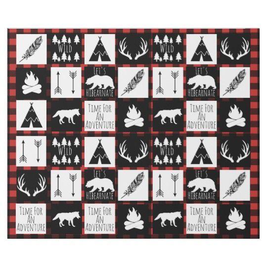 Rustic Black Buffalo Plaid Wilderness Adventure Wrapping ...