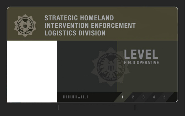 SHIELD Field Agent Level  Id Card Blank By Agentwhitehawk