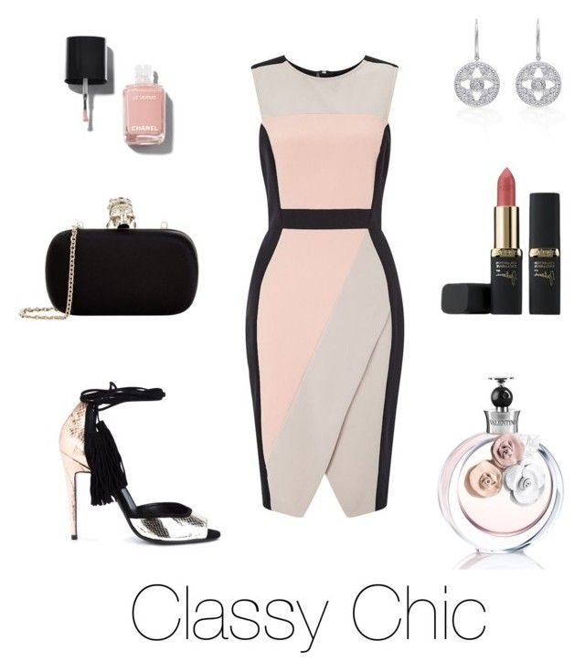 """""""Dress To Kill!"""" by maral-askari ❤ liked on Polyvore featuring Pierre Hardy, Miss Selfridge, Alexander McQueen, Valentino, Chanel and L'Oréal Paris"""