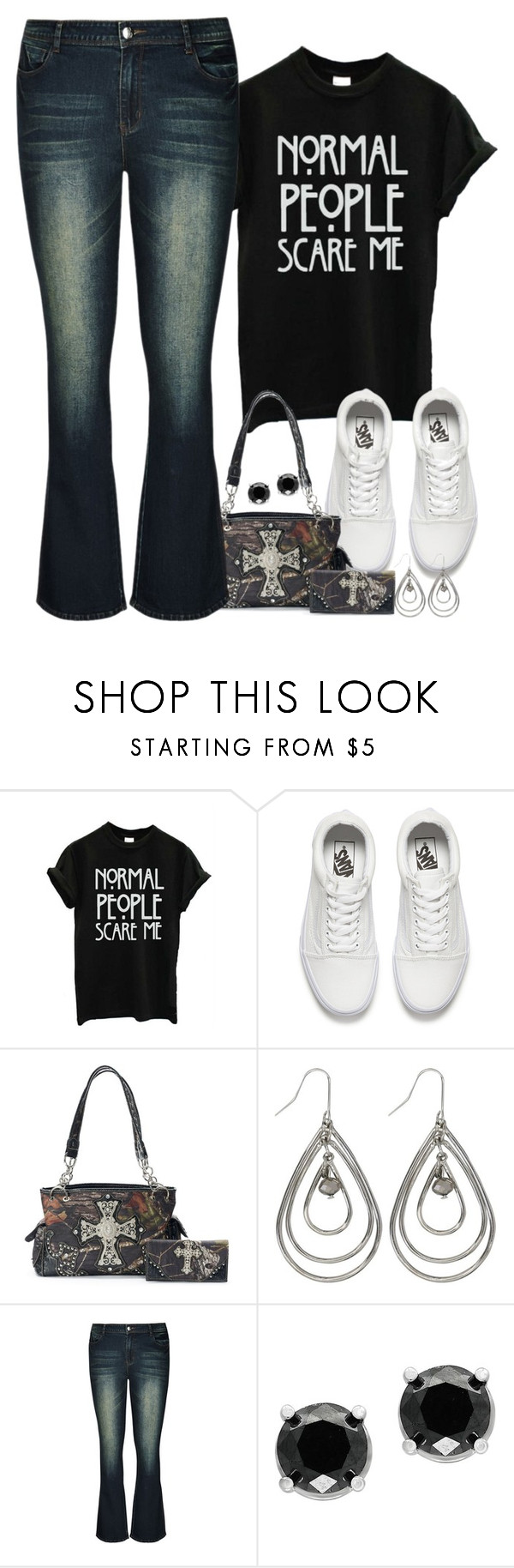 """""""Normal People Scare Me"""" by majezy ❤ liked on Polyvore featuring Vans, Mossy Oak, M&Co, City Chic, Effy Jewelry and plus size clothing"""