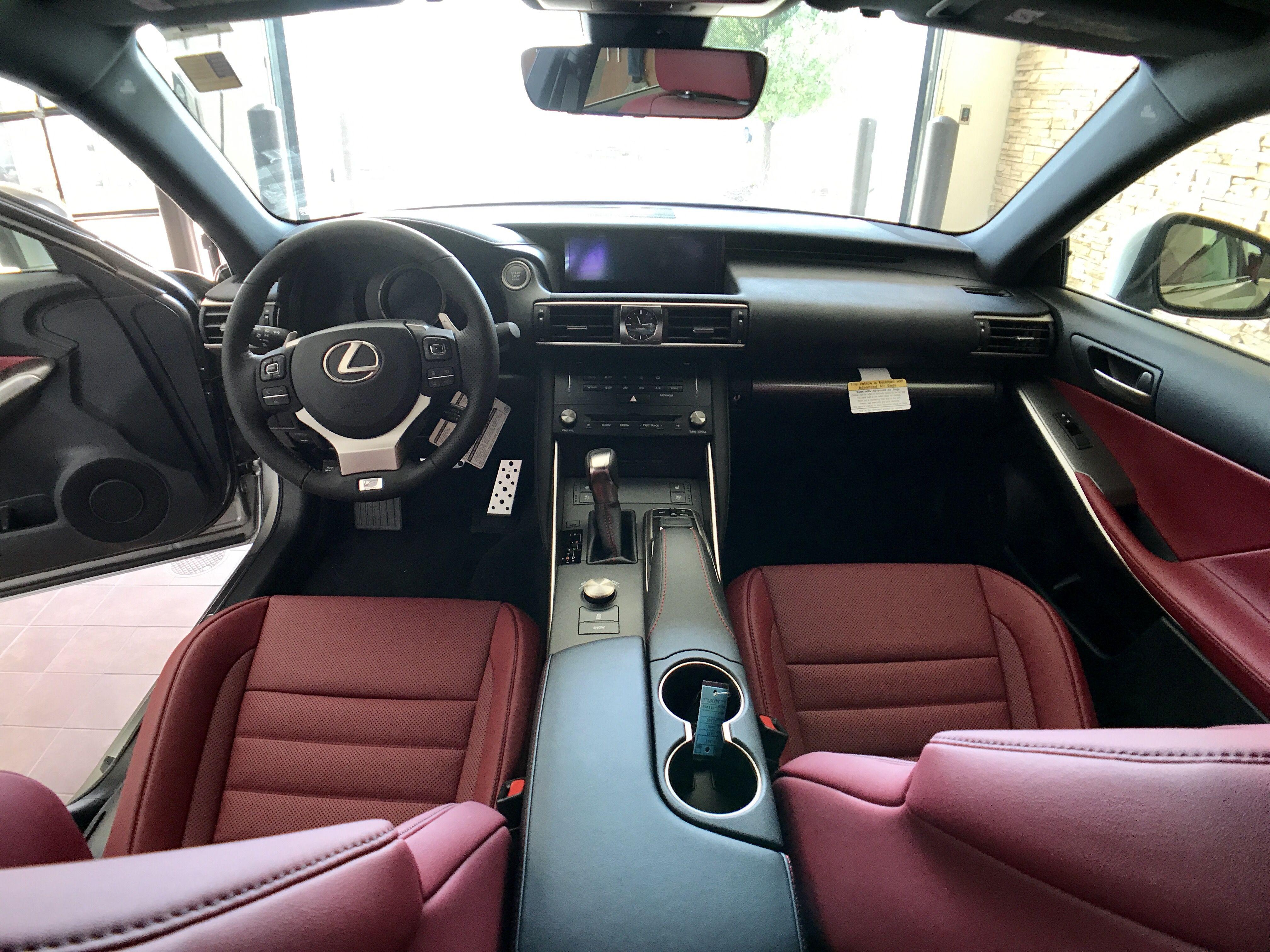 Lexus Is F Sport Roja Red Interior Lexus Red Interiors Future Car