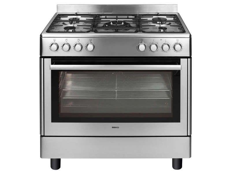 Maxi Cuisinière Foyers BEKO GM DX Coloris Inox Prix Promo - Gaziniere 5 feux pas cher pour idees de deco de cuisine