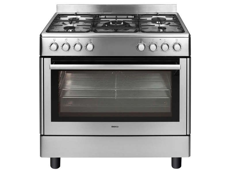 Maxi cuisinière 5 foyers BEKO GM 15121 DX coloris inox prix promo ...