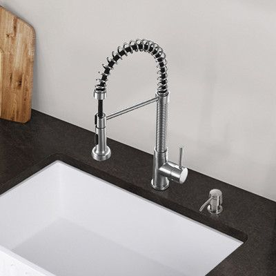 Found It At Wayfair Edison Single Handle PullDown Spray Kitchen - Wayfair kitchen faucets