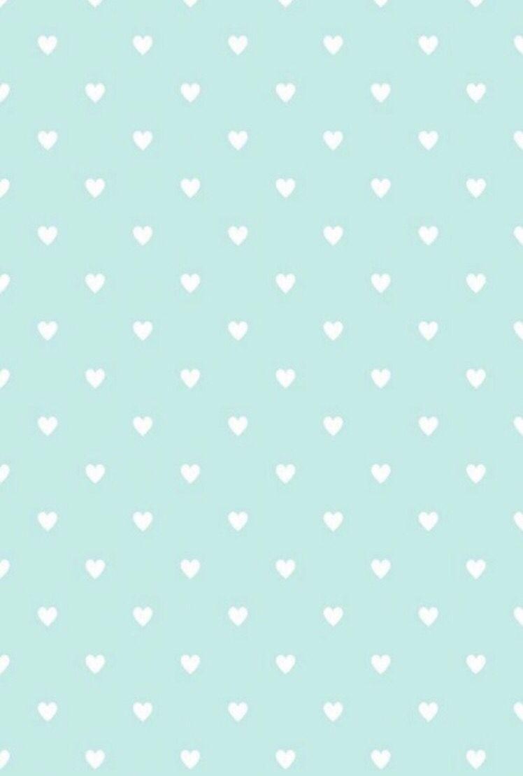 Cute Simple Mint Green Heart Background Mint Green Wallpaper Green Wallpaper Cute Wallpapers For Computer