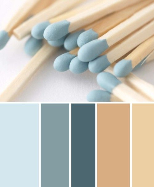 guest bedroom color idea - Beige to blue. I LIKE THE BLUE FOR THE GUEST