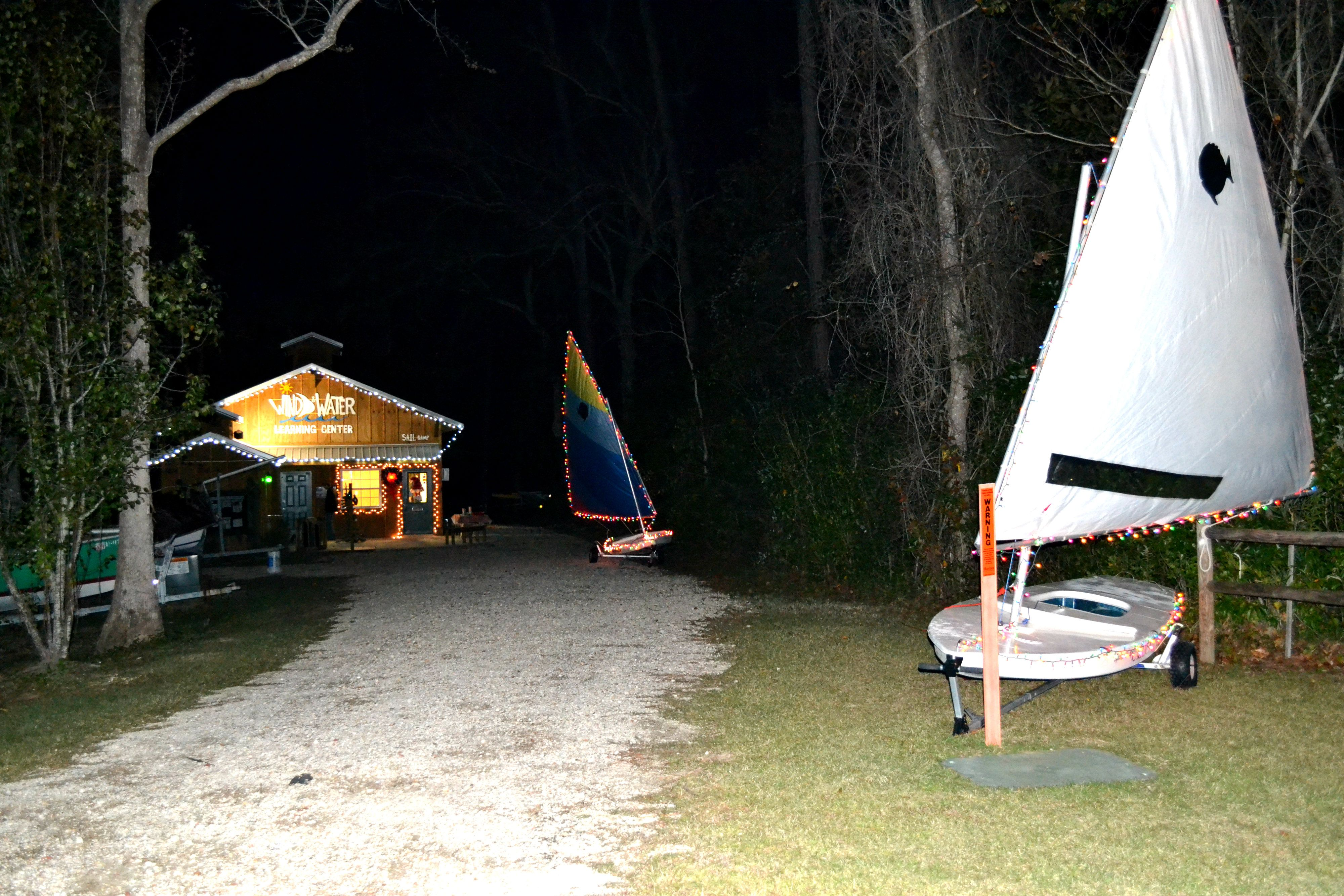 #WindandWaterLearningCenter lit up for the #CoastalChristmas Stroll 2013 #Christmas in #OrangeBeach